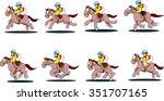 running horse | Shutterstock .eps vector #351707165