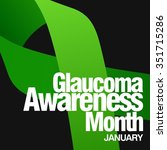 glaucoma awareness campaign | Shutterstock .eps vector #351715286