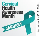 cervical health awareness | Shutterstock .eps vector #351716306