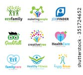 family and people logo set logo ... | Shutterstock .eps vector #351724652