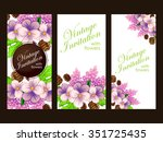 wedding invitation cards with... | Shutterstock . vector #351725435