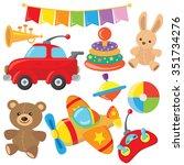 toys vector illustration | Shutterstock .eps vector #351734276