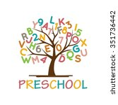playgroup  preschool ... | Shutterstock .eps vector #351736442