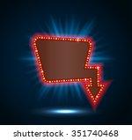 retro billboard shining blue... | Shutterstock . vector #351740468