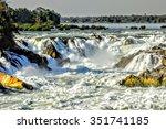 Khone Phapheng Falls. Waterfall ...