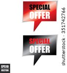 special offer speech bubbles... | Shutterstock .eps vector #351742766