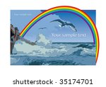 color illustration with a sea... | Shutterstock .eps vector #35174701