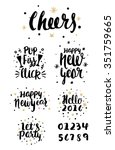 happy new year hand lettering... | Shutterstock .eps vector #351759665