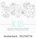 line style vector illustration... | Shutterstock .eps vector #351765776