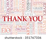 thank you word cloud in... | Shutterstock . vector #351767336