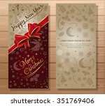 merry christmas and happy new... | Shutterstock .eps vector #351769406