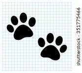 paw   black vector icon
