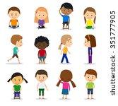 cute kids | Shutterstock . vector #351777905