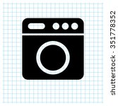 washer   black vector icon | Shutterstock .eps vector #351778352