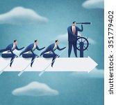 teamwork. business illustration | Shutterstock . vector #351779402