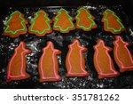 Gingerbread Trees And Pigs On ...