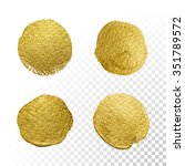 vector gold paint smear stroke... | Shutterstock .eps vector #351789572