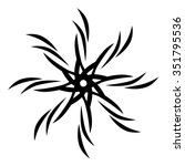 tattoo tribal circle vector... | Shutterstock .eps vector #351795536