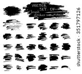 vector set of ink brush strokes.... | Shutterstock .eps vector #351797126