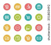 shopping web icons | Shutterstock .eps vector #351803492