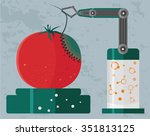 gmo concept of genetically... | Shutterstock .eps vector #351813125