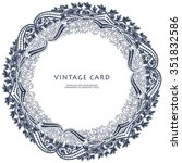 multicolor round floral frame.... | Shutterstock .eps vector #351832586