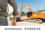 safety engineering and a helmet ... | Shutterstock . vector #351833216