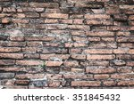 vintage tone brick wall cool... | Shutterstock . vector #351845432