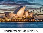 sydney   october 12  2015  the...   Shutterstock . vector #351845672