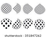 3d vector halftone spheres. set ... | Shutterstock .eps vector #351847262