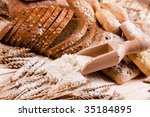 Compositions bread - stock photo