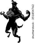 werewolf howling fictional... | Shutterstock .eps vector #351854762