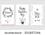 hand drawn romantic collection...   Shutterstock .eps vector #351857246