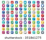 set of modern flat icons. this... | Shutterstock .eps vector #351861275