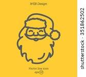 web line icon. santa claus | Shutterstock .eps vector #351862502
