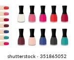 nail polish   Shutterstock .eps vector #351865052