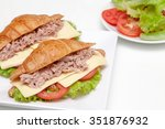 croissants with tuna and cheese  | Shutterstock . vector #351876932