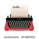 retro typewriter vector... | Shutterstock .eps vector #351889442