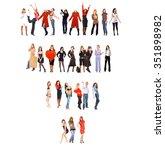 teamwork achievement business... | Shutterstock . vector #351898982