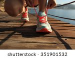 young fitness woman runner... | Shutterstock . vector #351901532