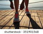 young fitness woman runner... | Shutterstock . vector #351901568