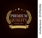 premium quality logotype with... | Shutterstock .eps vector #351906386