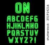 Double Neon Font Part 1 Of 2 ...