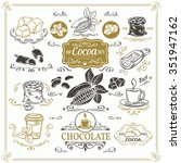decorative cocoa schocolate... | Shutterstock .eps vector #351947162