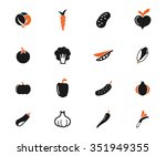 vegetables simply icons simply... | Shutterstock .eps vector #351949355