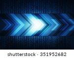 sci fi futuristic user interface | Shutterstock . vector #351952682