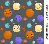 space pattern vector... | Shutterstock .eps vector #351958856