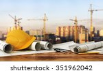 concept of construction and... | Shutterstock . vector #351962042