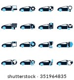 car service symbol for web icons | Shutterstock .eps vector #351964835