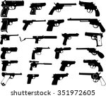guns silhouettes collection  ... | Shutterstock .eps vector #351972605